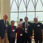 Rev. Jim Miner, Betsey Miner, Eileen and Jerry Becknell and Fr. J. Devin Rodgers at the Sts. Simeon and Anna induction ceremony 2019